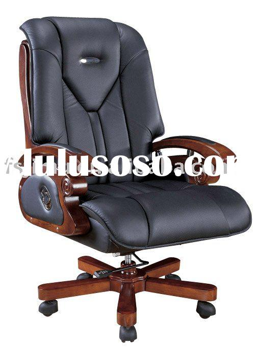 high end furniture reclining genuine leather office chair