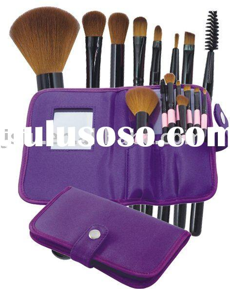 high quality purple cosmetic makeup brush set