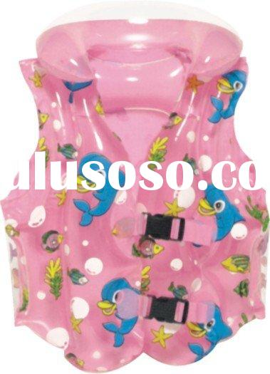 inflatable swimming vest, inflatable life clothes, inflatable swimming clothes, PVC swimming vest, c