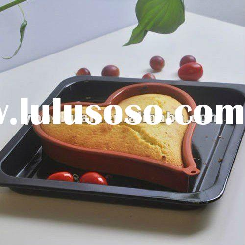 kitchen tool/heart Shape Silicone Cake Mold