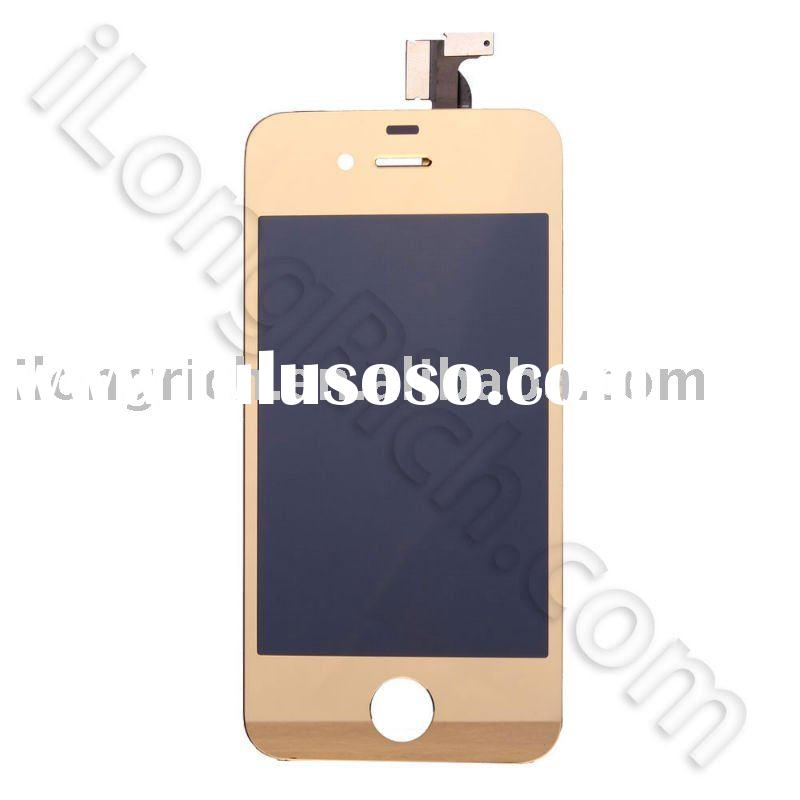 lcd display+touch panel replacement for iphone 4 gold