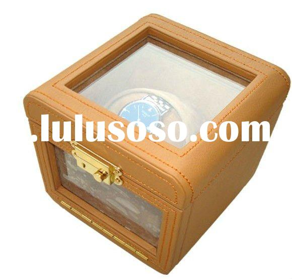 leather watch winder boxes/high end watch winder motor/auto matic watch winder case