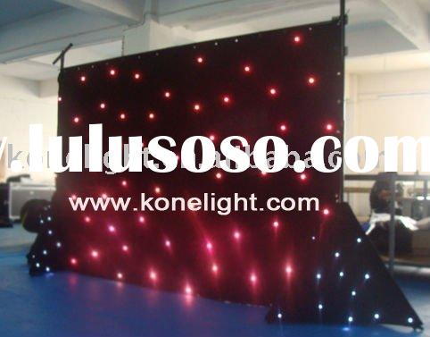 led star cloth stage backdrop / led star curtain