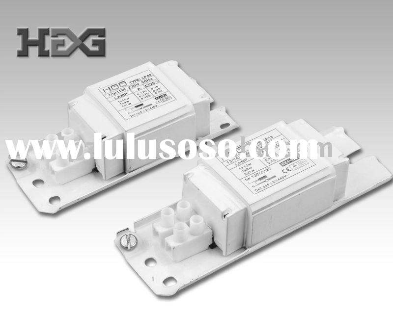 magnetic ballast for fluorescent lamp 7w-65w with copper/aluminum line