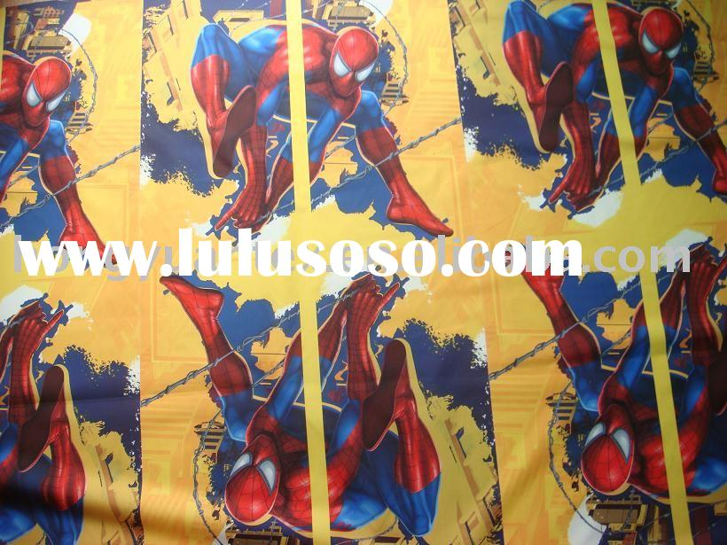 microfiber peach skin fabric/ kids design/spiderman