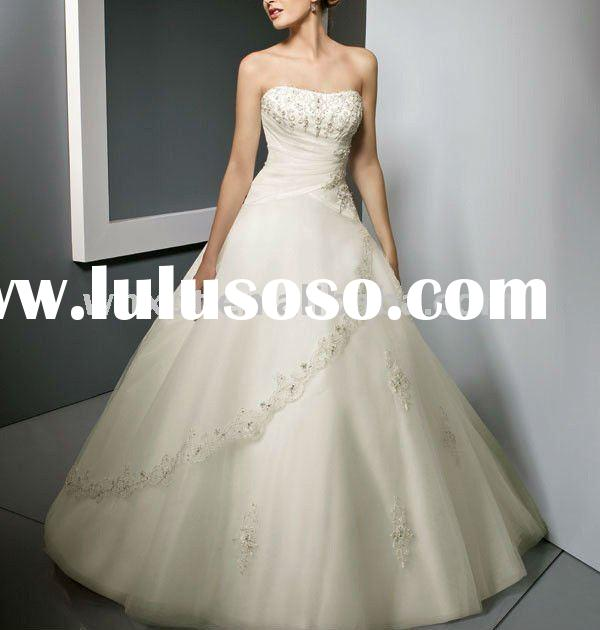 name brand wedding dress for lady 2011