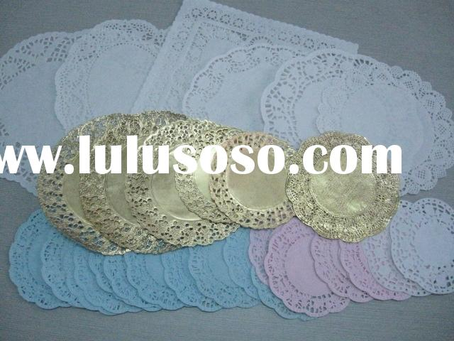 nature white/color/gold/silver paper doilies