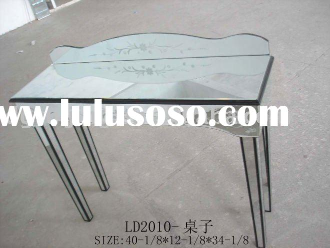 one drawer mirrored dressing table