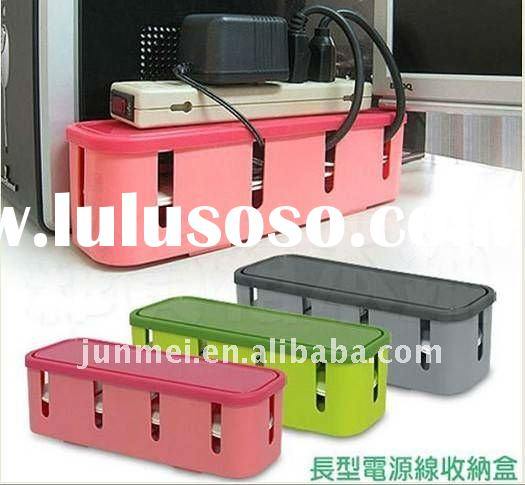 plastic cable wire storage case organizer for plug/socket