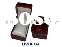 plastic watch box cover with paper