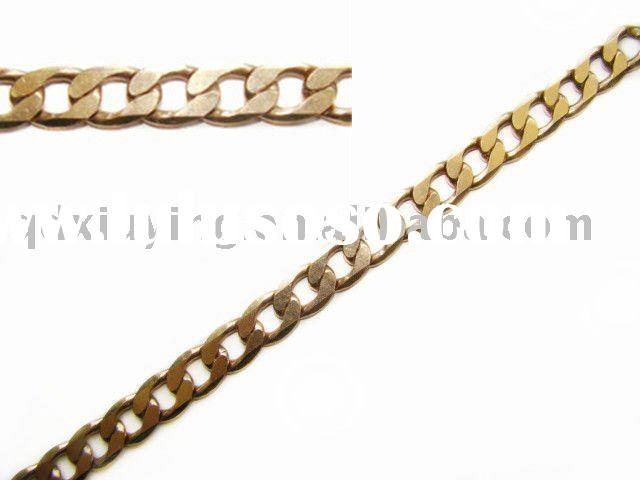 pure copper cable,curb jewelry chain