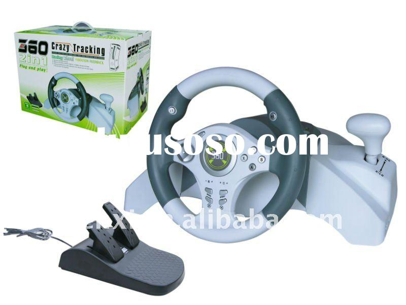 racing wheel ,xbx360 Crazy tracking wired wheel