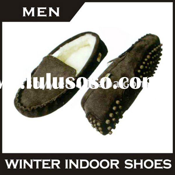 rubber sole shoes Genuine leather loafers hot selling fashion man casual shoe