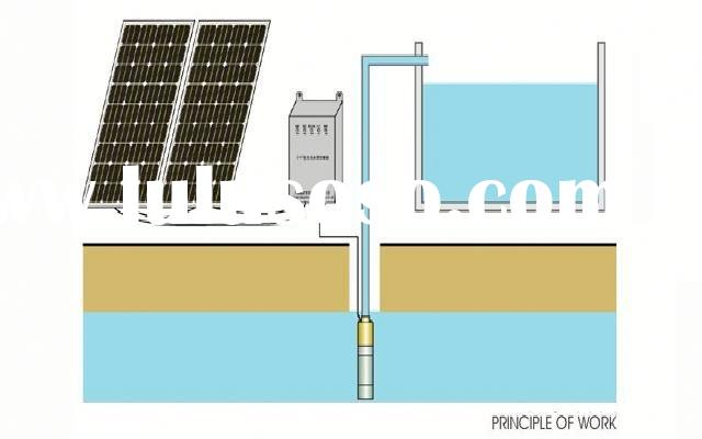 solar deep well submersible water pump