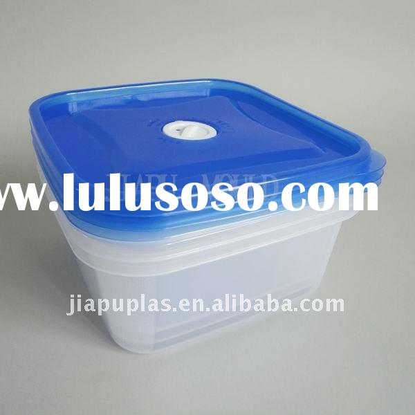 square clear hinged lid plastic boxes-0295