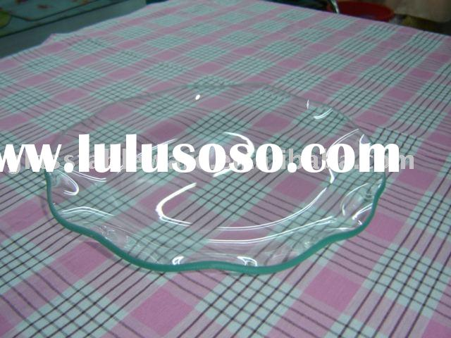 tempered clear glass plate