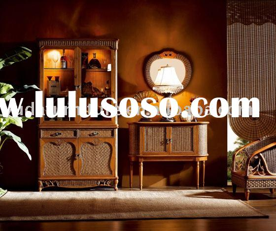wooden outdoor furniture Natural Indonesia rattan cabinet cane wicker