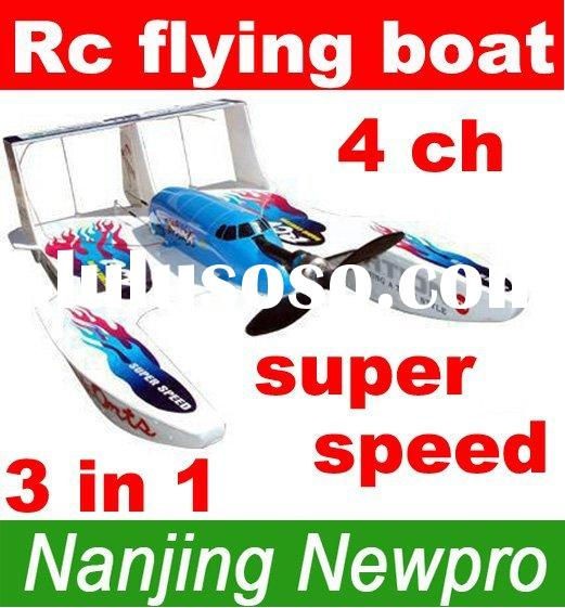09 new product 4 Ch 3in1 Hydro-Glider RC toys radio remote control airplane flying Boat r/c stunt ve