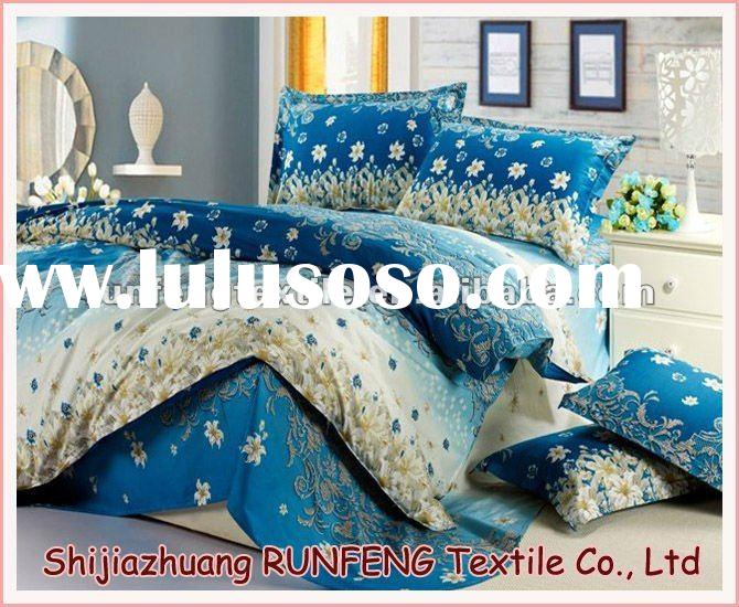 100% COTTON Reactive printing bedding set/bed sheets/quilt cover/pillow case 014