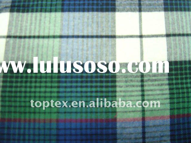 100% cotton flannel yarn dyed woven fabric for shirt