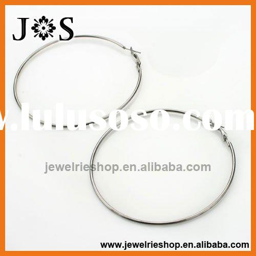 100 mm Gunmetal Plated Fashion Hoop Earring Jewelry Round Findings Accessory