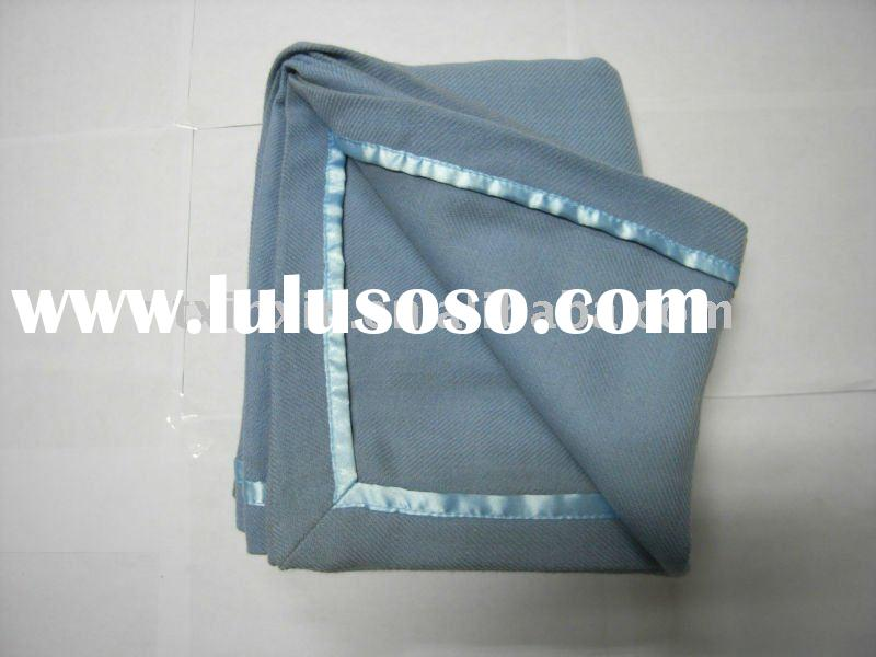 100% wool jacquard airline blanket/air blanket/travel blanket