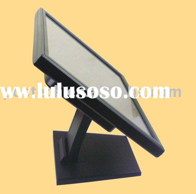"""15"""" inch VGA TFT LCD Touch Screen Monitor with POS base"""