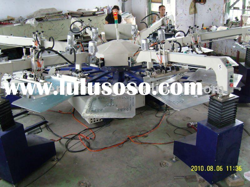 16-color rotary semi-automatic textile printing machine