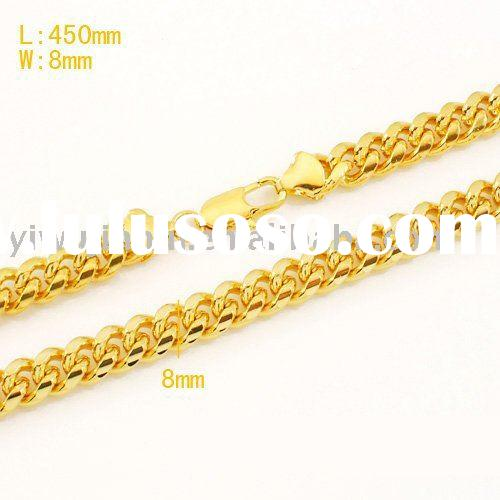 18k Fashion Necklace Jewelry Gold Plated Fashion Jewelry Necklace Men Thick Chain Necklace Jewelry