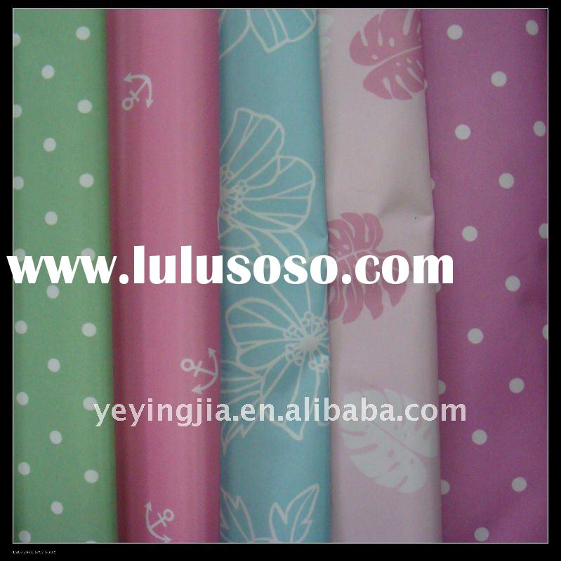 190T Polyester Taffeta/ Printed fabric With PVC Coated
