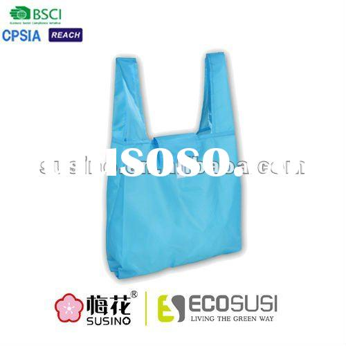190T polyester wholesale reusable shopping bag