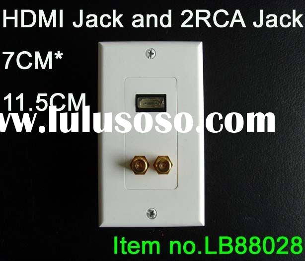 1PC x HDMI + RGB 1 RCA Component WALL PLATE PORT COVER
