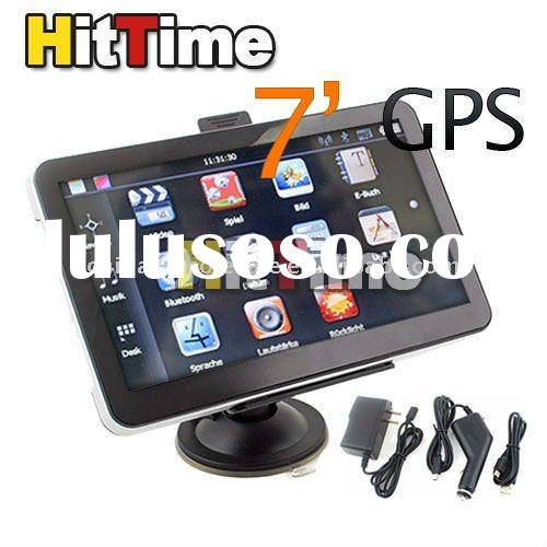 1Pcs/lot 7 Inch LCD Car GPS Navigation MP3 FM Transmitter TF 2GB Free AIR Mail ONLY