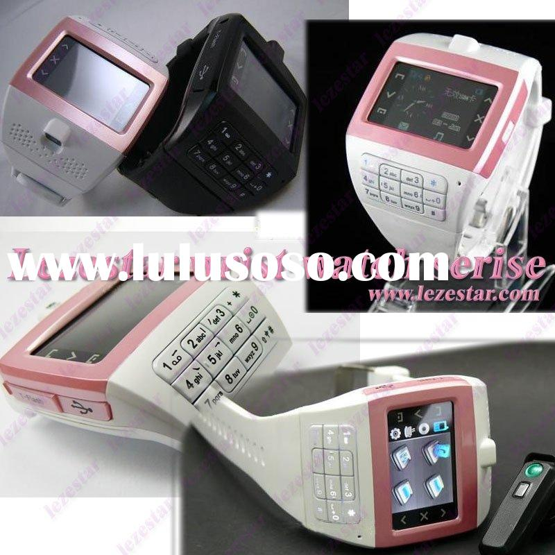 1.3 inch GSM single card quad band watch mobile phone hand phone cell phone with bluetooth GPRS