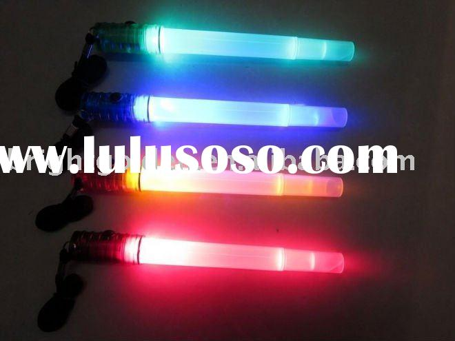 200 hours led glow light stick with flashlight and whistle