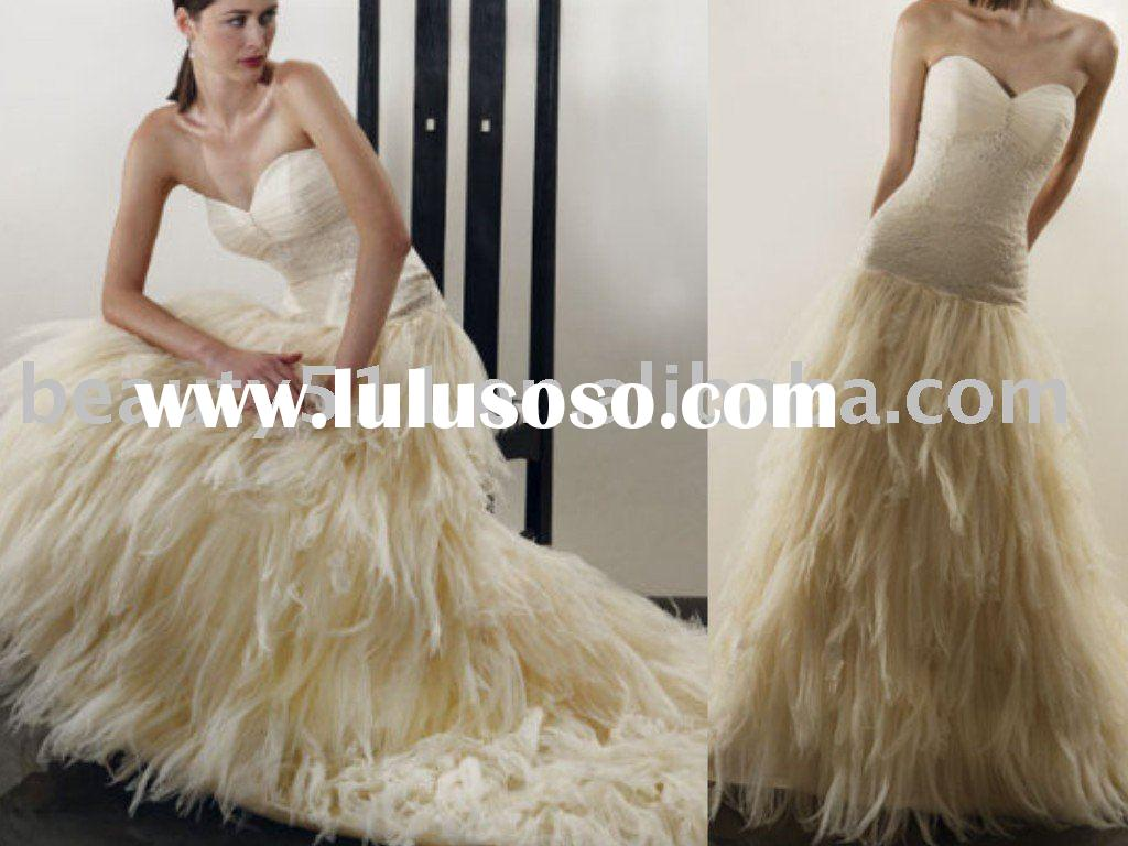 2010 ostrich feather special occasion dress prom dress party dress EUAH0438