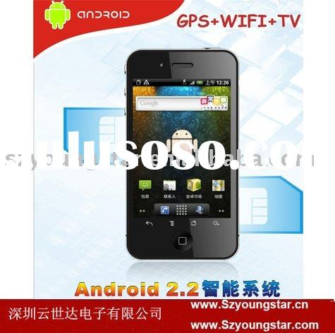 2011 4G style China Android phone Dual sim cards GPS WIFI TV mobile phone A738