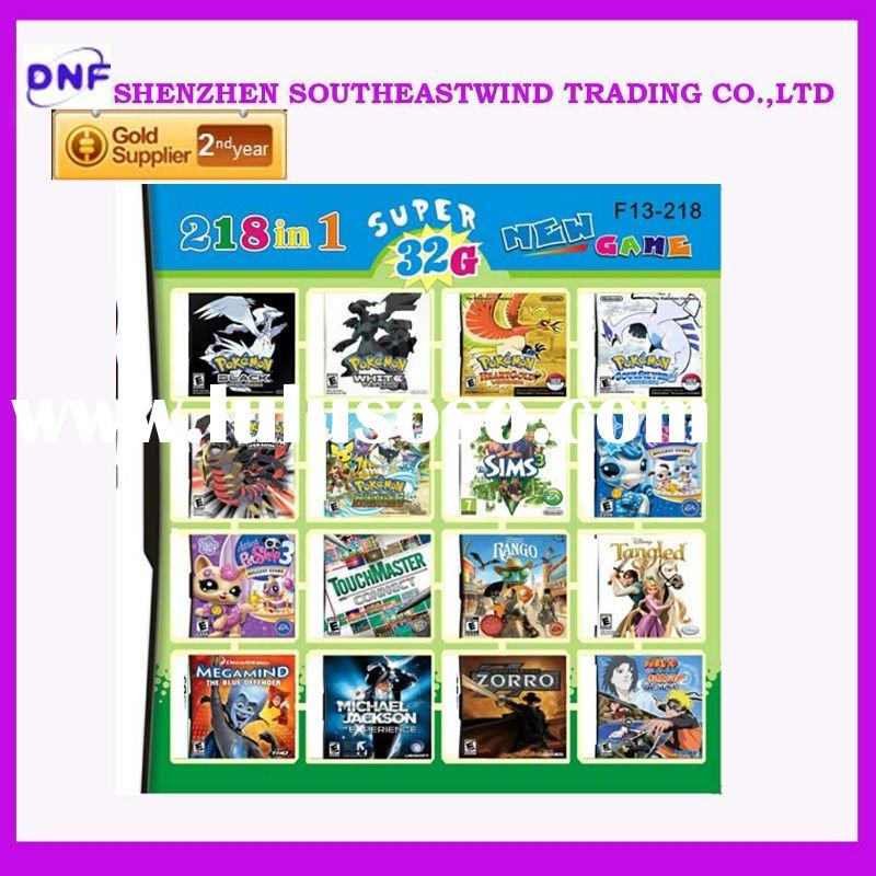 2011 Christmas gift newest games 32G 218 in 1 multi games card free shipping promotion