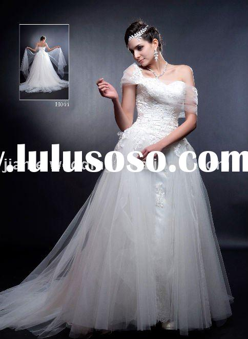 2011 Hot Selling One Strap Wedding Dresses (H044)