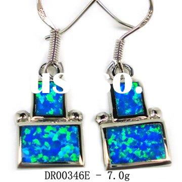 2011 Latest Fashion Blue Opal Earrings,925 Sterling Silver JewelryDR00346E