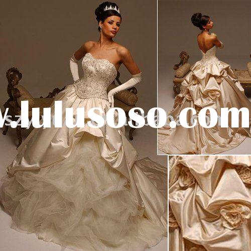 2011 New style satin Strapless sweetheart Exquisite Bridal Wedding Dress/gowns