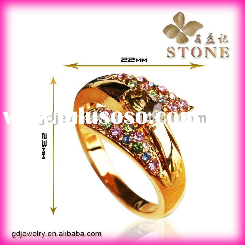 2011 Unique style wedding ring plated 18k gold
