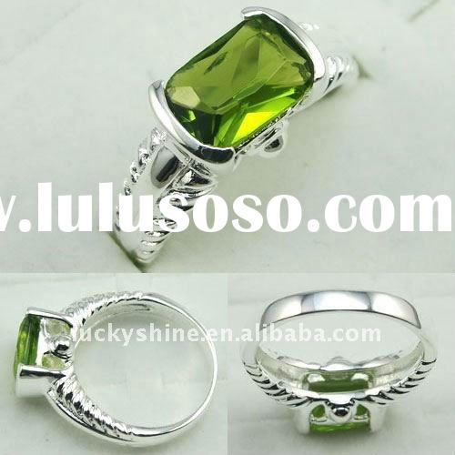 2011 christian jewelry 925 silver fashion gemstone ring peridot