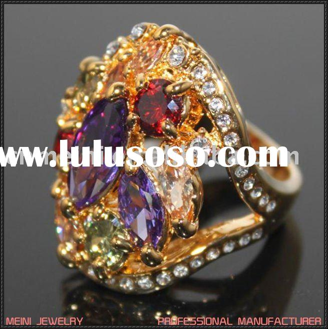 2011 fashion gold plated ring