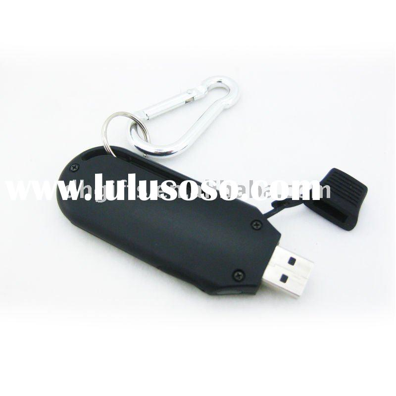 2011 hot sale USB emergency travel charger for mobile phone with flash disk