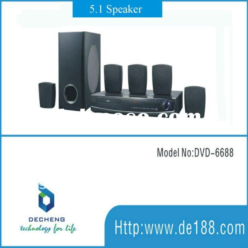 2011 lastest 5.1 DVD home cinema surround sound system 6688
