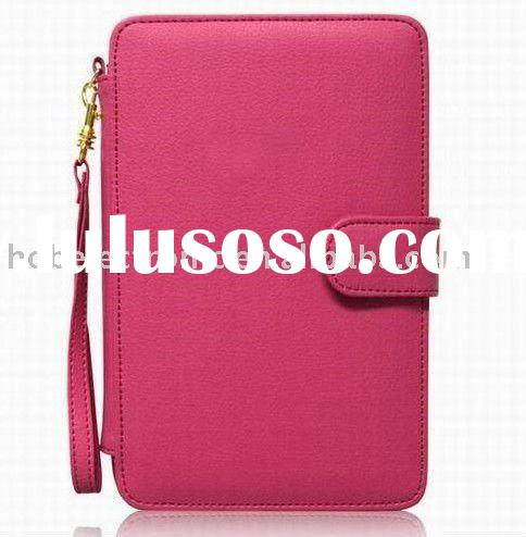 2011 pink protective leather case for Samsung Galaxy Tab/P1000