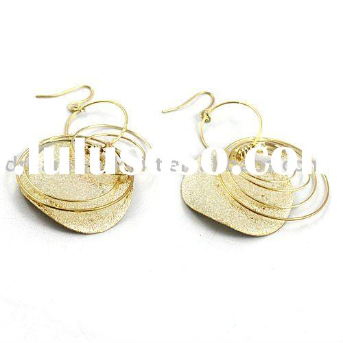 2011 the most popular fashion costume jewelry gold plated earrings
