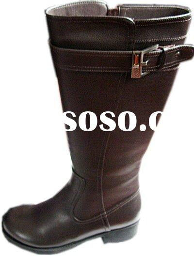 2011 women fashion casual leather high boots
