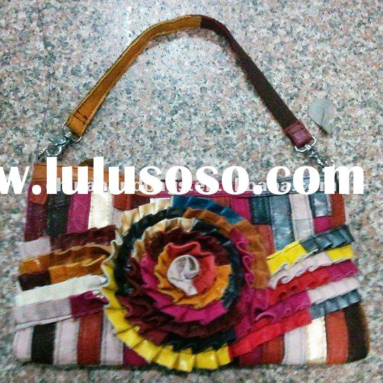 2012 Fashion brand suede leather bag